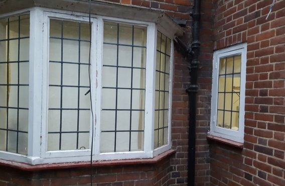 Casement window bay restoration (before)