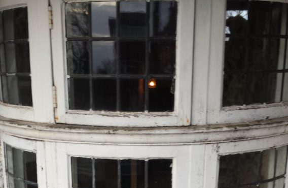 Curved Casement Window Before Restoration
