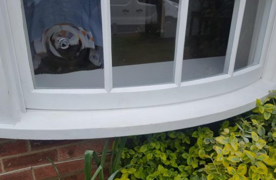 Curved Sash Window After Repair
