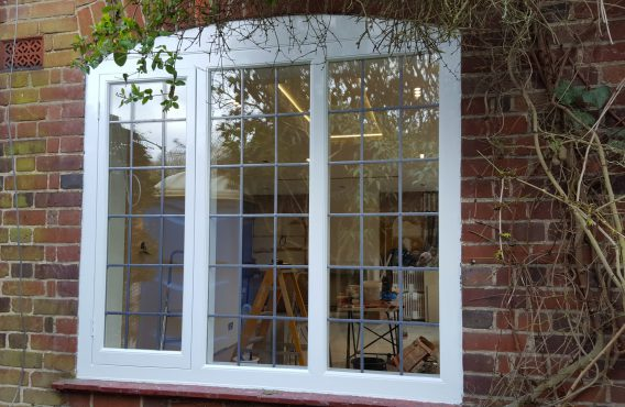 Lead casement window