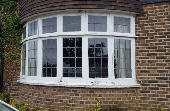 Leaded Casement Window Before Restoration