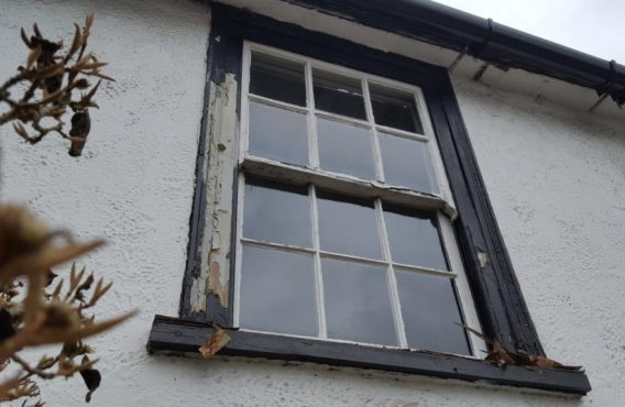 Sash Window before restoration