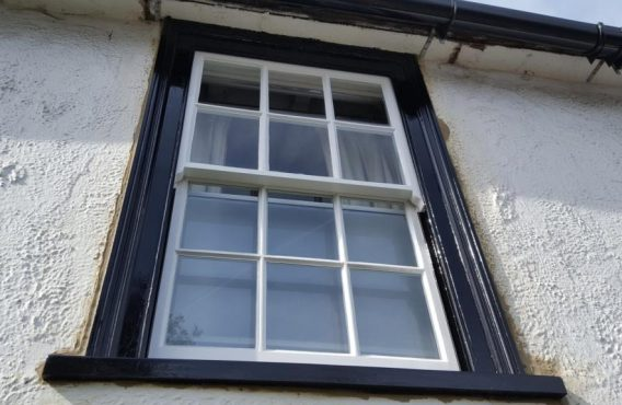 Sash window after restoration