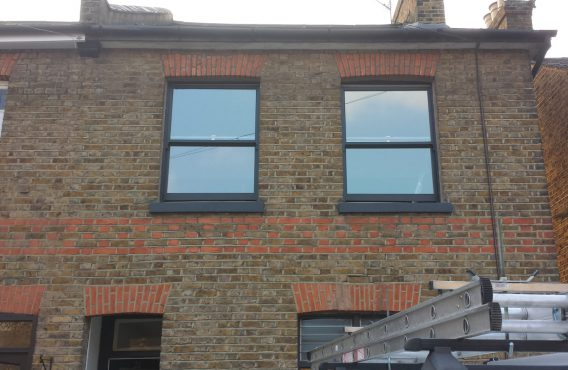 Traditional sash windows after repair
