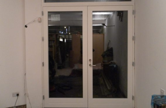 Wooden door after replacement