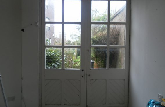Wooden door before replacement