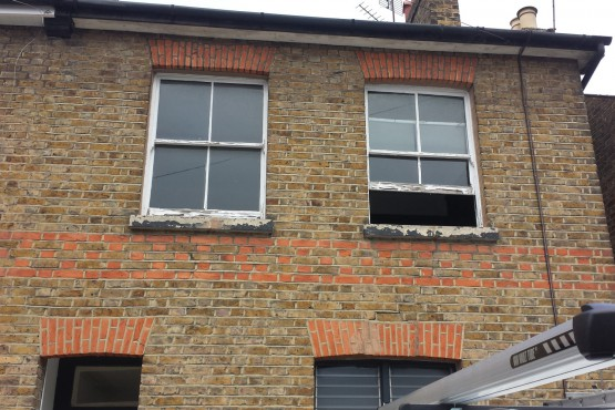 Traditional sash window (before)