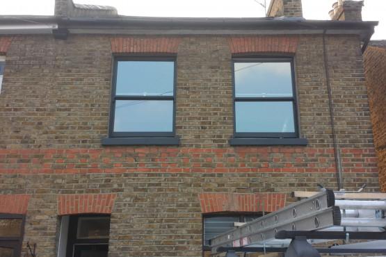 Traditional sash window (after)