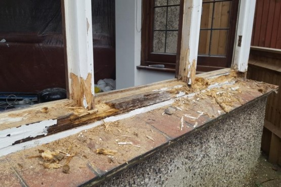 Wooden window sill replacement