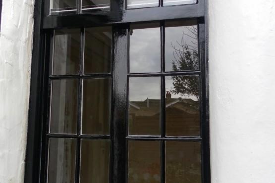 Old sash window restoration (after)